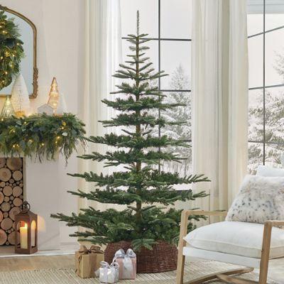 almost nature home decor custom desgned artfcal trees.htm un lit noblis fir christmas tree grandin road  un lit noblis fir christmas tree