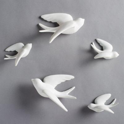 Ceramic Flying Birds Wall Decor from akamai-scene7.grandinroad.com
