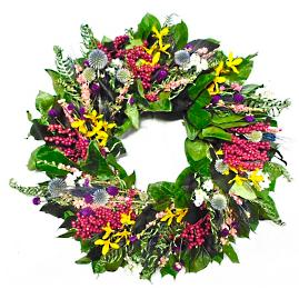 Dried Wildflower Meadow Wreath