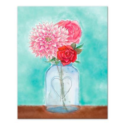 Flower In Vase Canvas Grandin Road