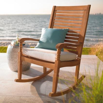 Teak Nantucket Rocking Chair | Grandin Road