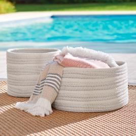 Attirant Nellie Stripe Outdoor Basket