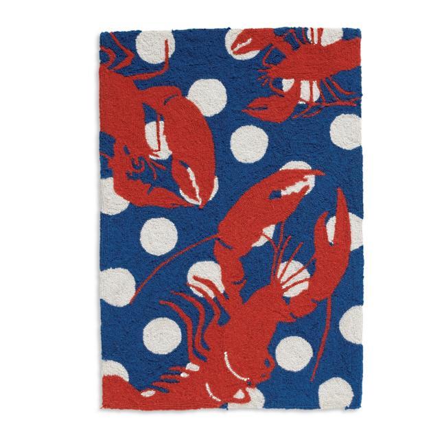 Lobster Seaside Hook Rug Grandin Road