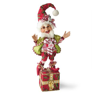 Mark Roberts Candy Cane Elf Stocking Holder Grandin Road