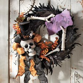 """Happy Hauntings"" Wreath"