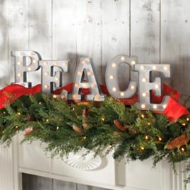 Peace Marquee Letters