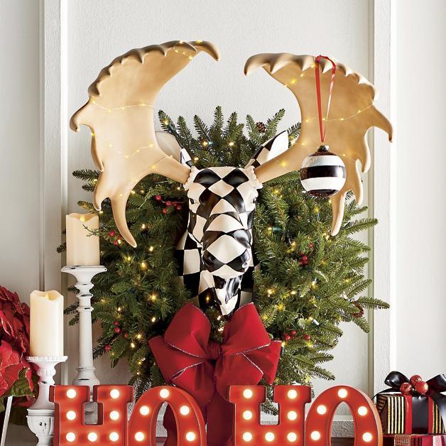 harlequin moose head