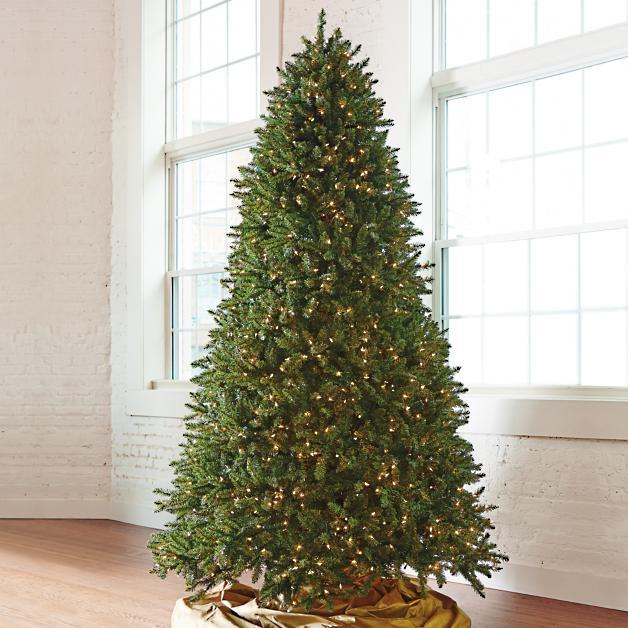 Grand Christmas Tree: Grand Fir Artificial Christmas Tree With Wheeled Stand