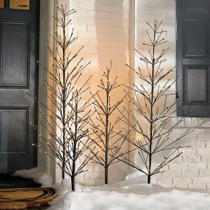 Battery Operated Outdoor Twig Tree Grandin Road