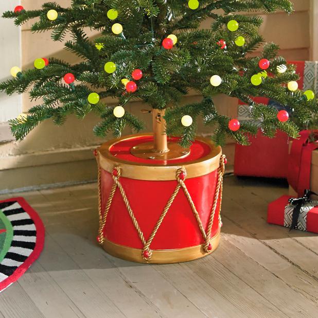 Christmas Drum.Drum Tree Stand Grandin Road
