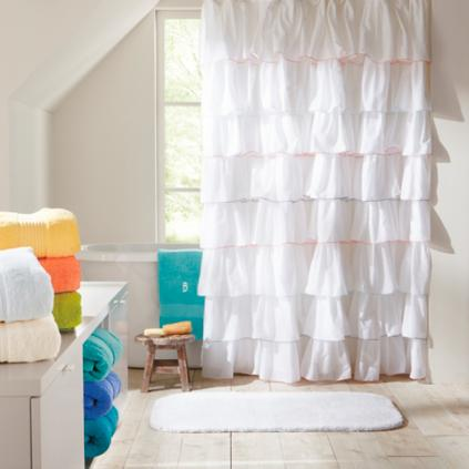 Frill Shower Curtain Grandin Road
