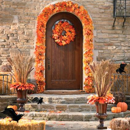 New England Maple Leaf Door Scene Kit