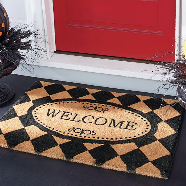 Harlequin Welcome Mat Grandin Road