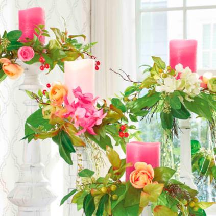 Set of Five Chloe Candle Rings | Grandin Road Chloe Decoration on