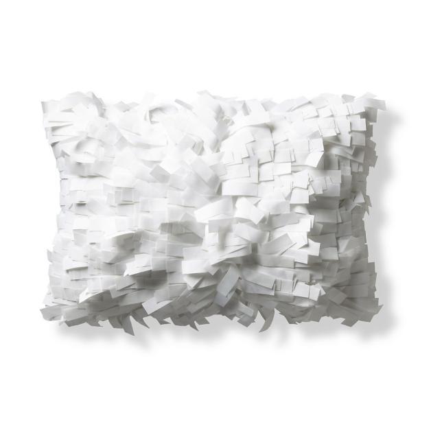 Palmera White Outdoor Lumbar Pillow Grandin Road