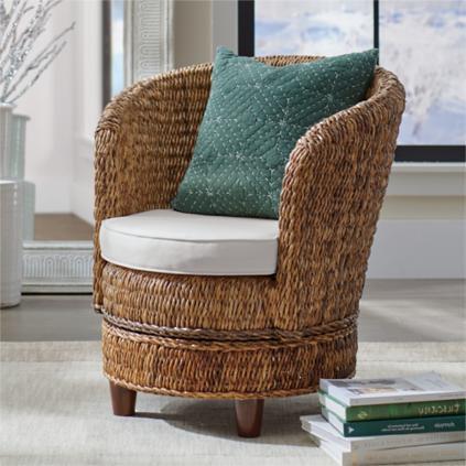 Cyprus Swivel Chair | Grandin Road