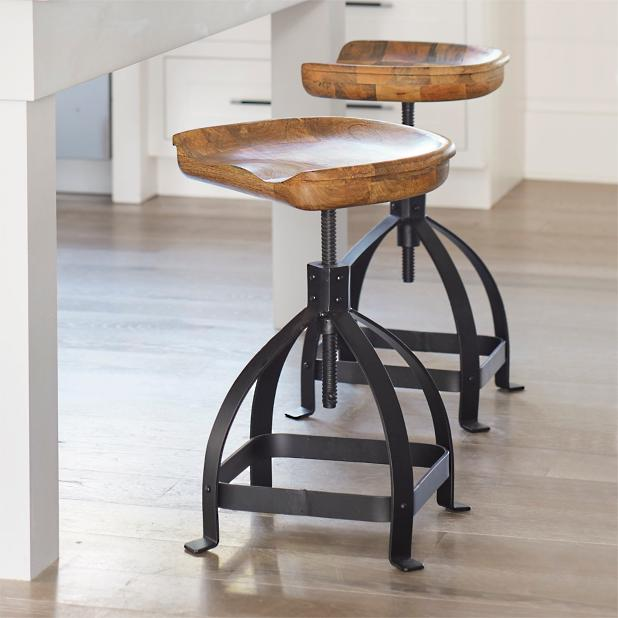 Excellent Tractor Swivel Adjustable Counter Stool Beatyapartments Chair Design Images Beatyapartmentscom