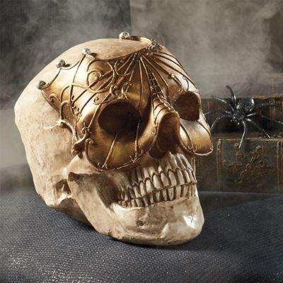 Skull Gold Mask Head Grandin Road