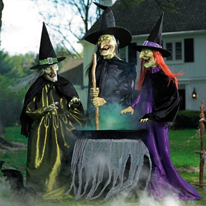 animated brewing witch trio