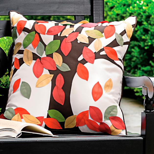 Falling Leaves Indoor Outdoor Throw Pillow Grandin Road