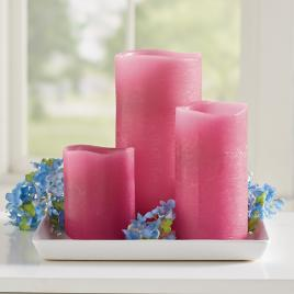 Flameless Textured Battery Operated Candle