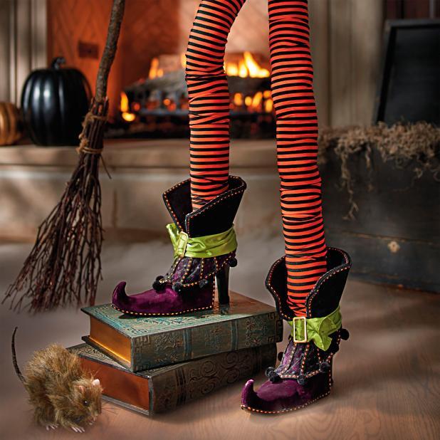 Pair Of Decorative Witch Legs Grandin Road