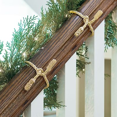 Decorative Garland Ties Set Of Six Grandin Road
