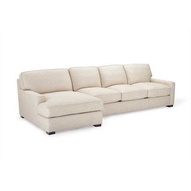Sawyer Linen One Arm Sofa Chaise Sectional Grandin Road