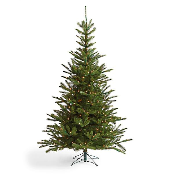 Artificial Christmas Tree Assembly Instructions.Pre Lit Noble Fir Artificial Christmas Tree Grandin Road