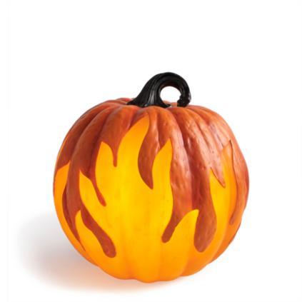 Flame Lighted Pumpkins Grandin Road
