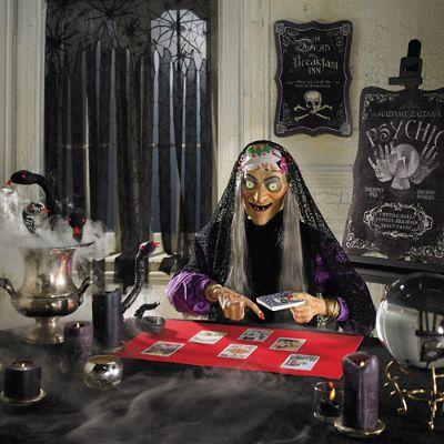 Halloween Fortune Teller Animatronic.Animated Zaltana Fortune Teller