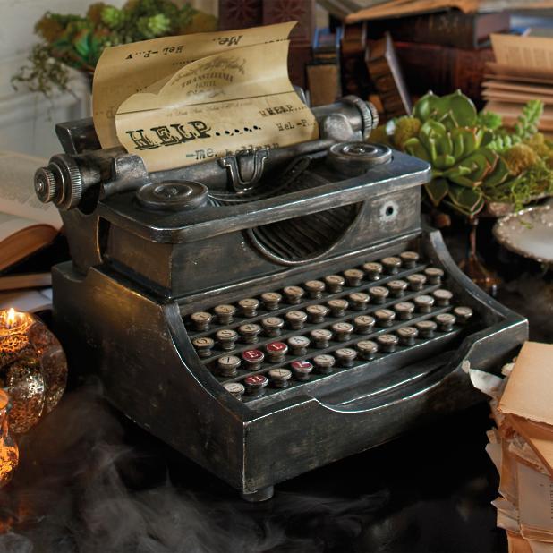 Animated Haunted Typewriter
