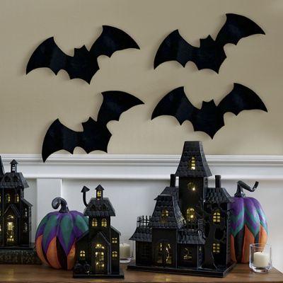 Large Felt Bats Set Of Four Grandin Road