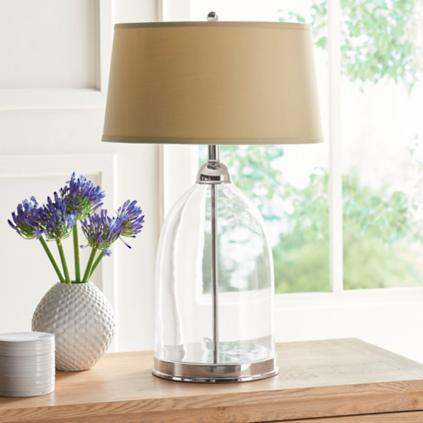 Glass Dome Table Lamp