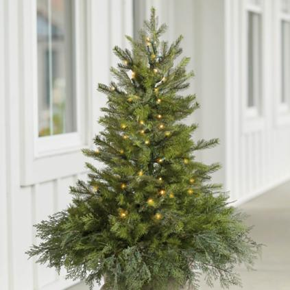 spruce tree urn filler with overflow - Christmas Tree Filler Decorations