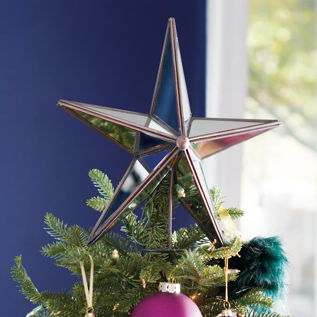 Christmas Tree Topper.Mirrored Star Tree Topper