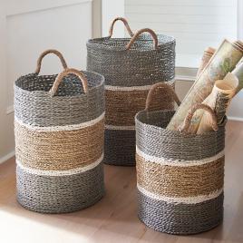 Charmant Jambi Baskets, Set Of Three