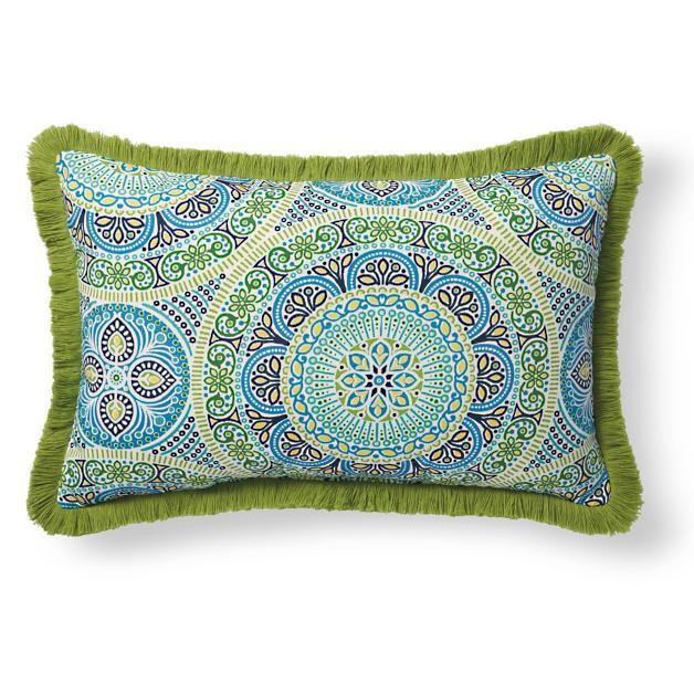 Fringe Lumbar Outdoor Pillow Grandin Road