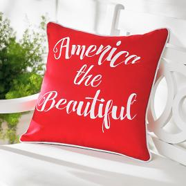 America Red Patriotic Pillow