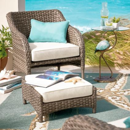 Thompson Outdoor Chair with Ottoman - Thompson Outdoor Chair With Ottoman Grandin Road