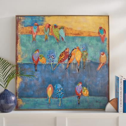 Colored Birds on a Wire Wall Art | Grandin Road