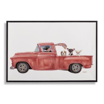 Dogs in Trucks Wall Art | Grandin Road