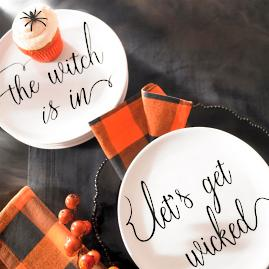 Witchy Word Plates & Napkins