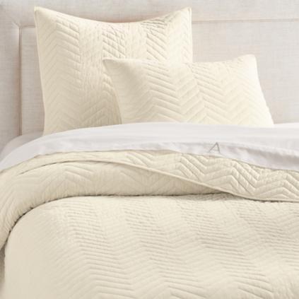 chevron velvet quilt - Velvet Bedding