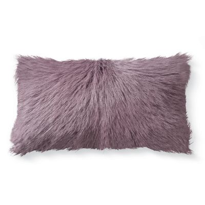 Mongolian Goat Fur Lumbar Pillow Grandin Road