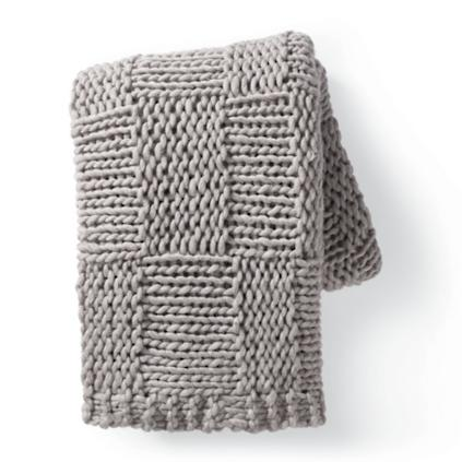 Chunky Knit Grid Throw Grandin Road