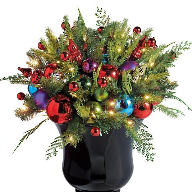 Christmas Tree Fillers.Merry And Bright Cordless Urn Filler