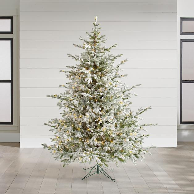 Aspen Pine Flocked Tree