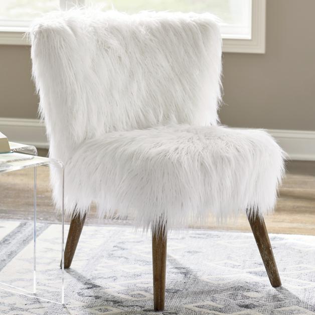 Gypsy Faux Fur Chair Grandin Road