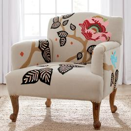 Linnet Embroidered Chair & Bench